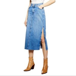 NWT TOPSHOP Denim Maxi Skirt